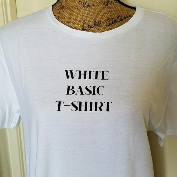 Zara Tops - 🗼ZARA PARIS🗼'white basic t-shirt graphic tee